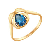 Золотое кольцо с топазами ДИ714701