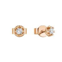 Золотые серьги гвоздики с бриллиантами ЛФЕ01-Д-СОЛ30-010-Г2к