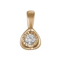 Золотая подвеска с бриллиантом ЛФП01-Д-ПЛ-33623