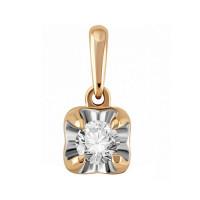 Золотая подвеска с бриллиантом ЛФП01-Д-СОЛ28-020-Г2к