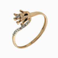 Золотое кольцо с фианитами ЮПК1324752