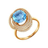 Золотое кольцо с топазами ДИ713747