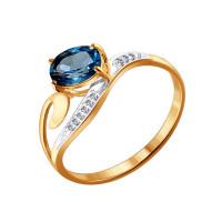 Золотое кольцо с топазами ДИ713842