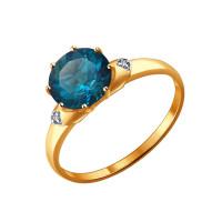 Золотое кольцо с топазами ДИ714004