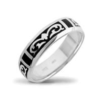 Золотое кольцо обручальное с бриллиантом и эмалью ШЛКЭБ-19