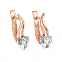 Золотые серьги с бриллиантами 9К12-0872