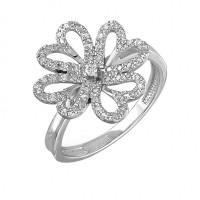 Серебряное кольцо с фианитами 9К11-095С