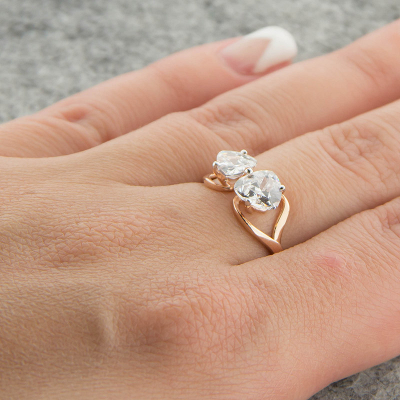 Золотое кольцо с фианитами 5Э10-02-00037
