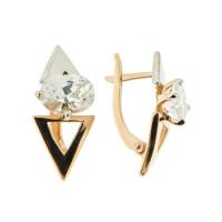 Золотые серьги с фианитами 5Э20-02-00102