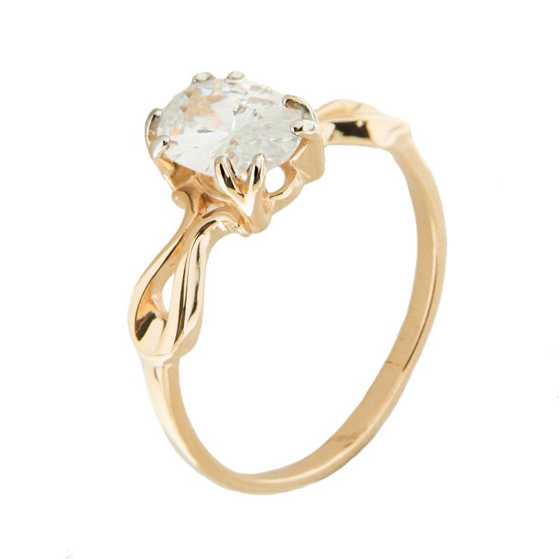 Золотое кольцо с фианитами 5Э10-02-00084