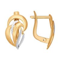 Золотые серьги ДИ027285