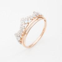 Золотое кольцо с фианитами ДИ017422