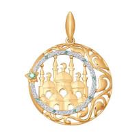 Золотая мечеть с фианитами ДИ034825