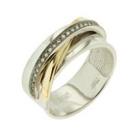 Золотое кольцо с бриллиантами 9К11-2720