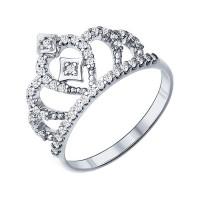 Серебряное кольцо с фианитами ДИ94011216