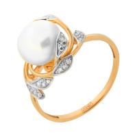 Золотое кольцо с жемчугом ПЭ1901389Р
