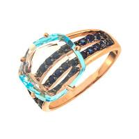 Золотое кольцо с топазами АА1388139