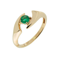 Золотое кольцо с изумрудом ЗСК13000158