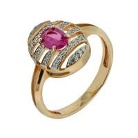 Золотое кольцо с рубином 1Р251151349