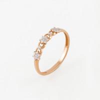 Золотое кольцо с фианитами 3ВК130-327