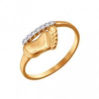 Золотое кольцо с фианитами КФК200