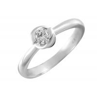 Кольцо из белого золота с бриллиантом КТЗК90569-1