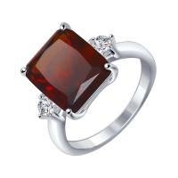 Серебряное кольцо с наноситалами и фианитами ДИ92011270