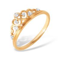 Золотое кольцо с фианитами ЮПК1321456