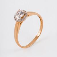 Золотое кольцо с Swarovski и фианитами ЮПК1326227
