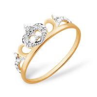 Золотое кольцо с фианитами ЮПК1326674