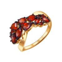 Золотое кольцо с гранатами ДИ714051