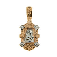 Золотая иконка с фианитами ОС331-246