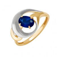Золотое кольцо с сапфиром ДПБР210095