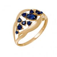 Золотое кольцо с сапфирами ДПБР210517ГТ
