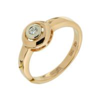 Золотое кольцо с бриллиантом МЭК73701