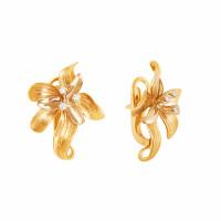 Золотые серьги с бриллиантами МЭС74935
