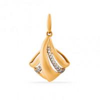Золотая подвеска с фианитами СН01-315264