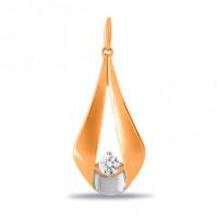 Золотая подвеска с фианитами СН01-315257