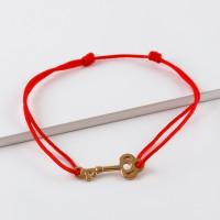 Золотой браслет красная нить ЮПБ1005478