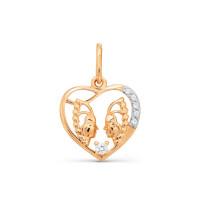 Золотой знак зодиака «близнецы» с фианитами ТЗТ147034666
