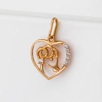 Золотой знак зодиака «овен» с фианитами