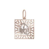 Золотой знак зодиака «рак» ТЗТ130634779