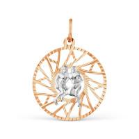 Золотой знак зодиака «близнецы» ТЗТ130634833