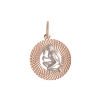 Золотой знак зодиака «дева»