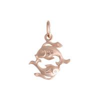 Золотой знак зодиака «рыбы» ТЗТ10003283