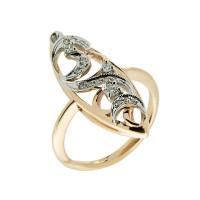 Золотое кольцо с бриллиантами ЗСК12000055