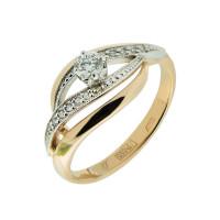 Золотое кольцо с бриллиантами ЗСК12000011