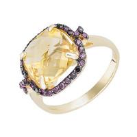 Золотое кольцо с топазами СБК03-3668