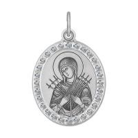 Серебряная иконка с фианитами ДИ94100211