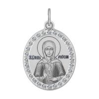Серебряная иконка с фианитами ДИ94100212